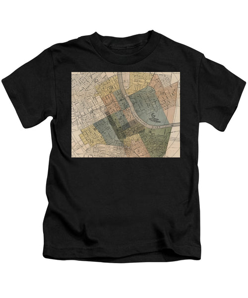 Map Of Nashville 1880s  - Kids T-Shirt