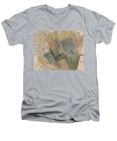 Map Of Nashville 1880s  - Men's V-Neck T-Shirt