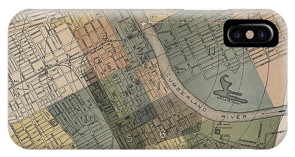 Map Of Nashville 1880s  - Phone Case