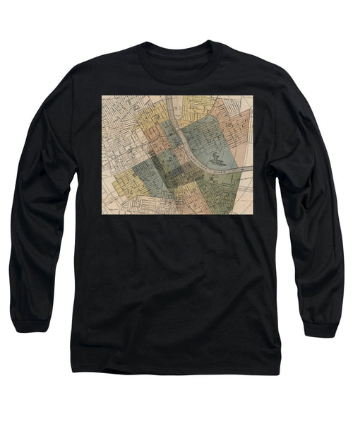 Map Of Nashville 1880s  - Long Sleeve T-Shirt