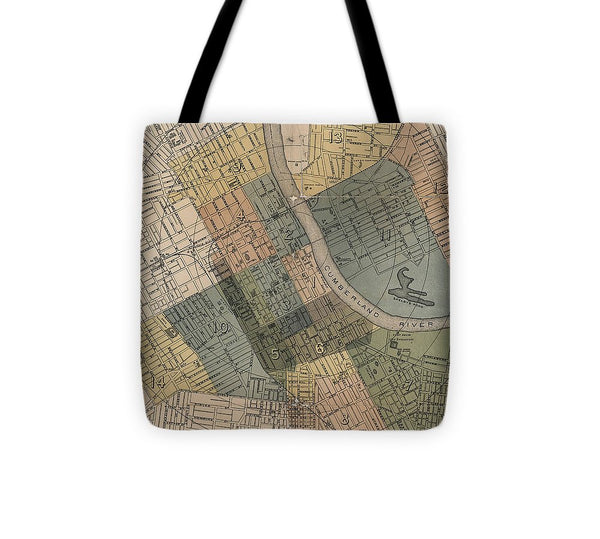 Map Of Nashville 1880s  - Tote Bag