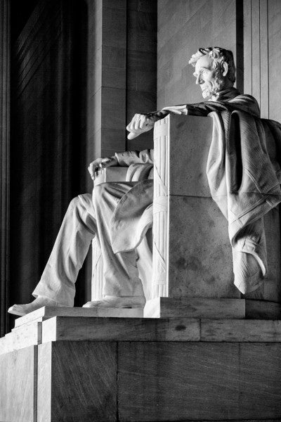 Lincoln Memorial - Dramatic Side View of the Lincoln Statue (RQ0A9616)
