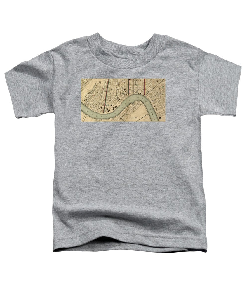 Vintage 1840s Map Of New Orleans - Toddler T-Shirt