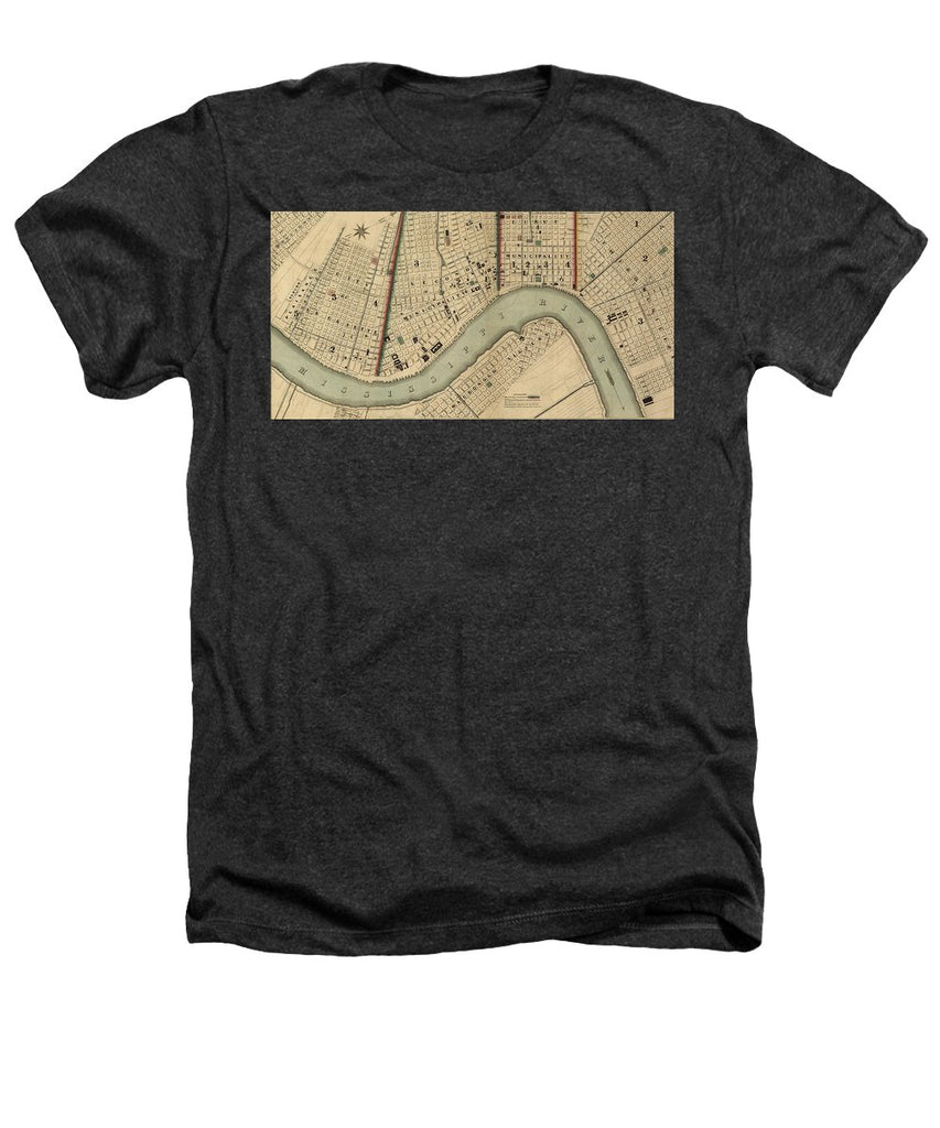 Vintage 1840s Map Of New Orleans - Heathers T-Shirt