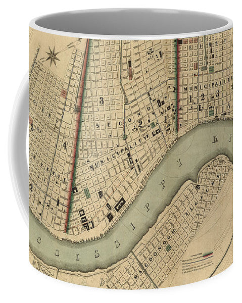Vintage 1840s Map Of New Orleans - Mug