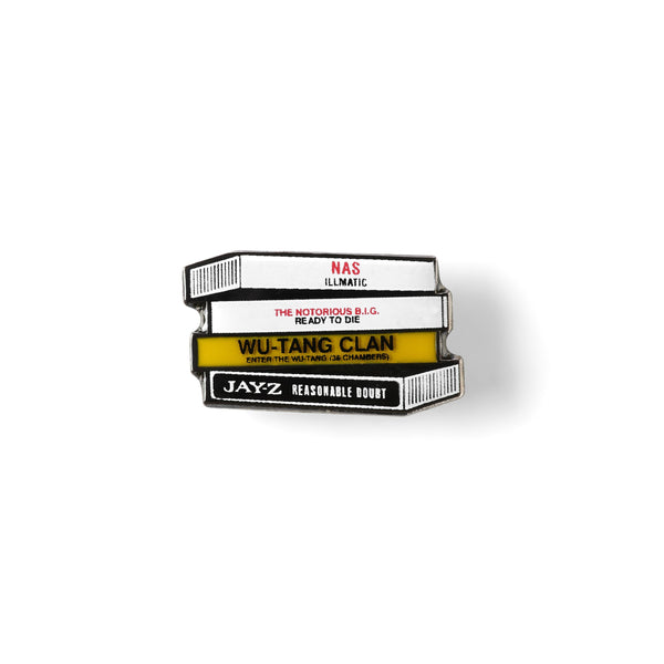 EAST COAST TAPE STACK LAPEL PIN-Good Dope Supply Co.