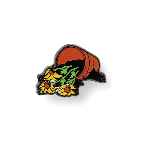 FLOWERS ARE DEAD LAPEL PIN-Good Dope Supply Co.