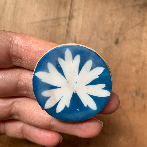 Botanical Cyanotype Brooch