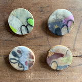Encaustic Collage Brooch