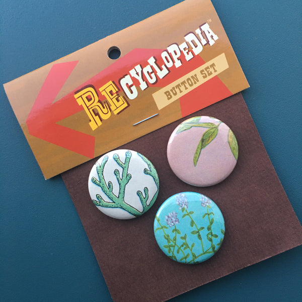 REcyclopedia Button Sets - Pictorial