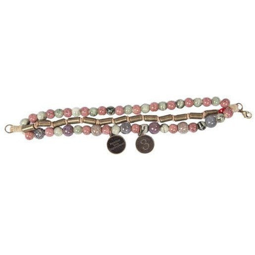 Darani - Earth Colored Ceramic & Anti Brass Beads w/Anti Brass Charms - Global Empowerment Marketplace