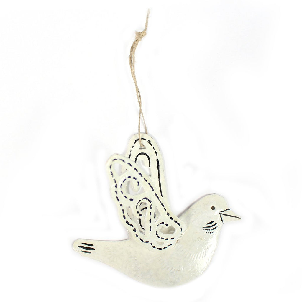 Rounded White Dove Ornament - Global Empowerment Marketplace