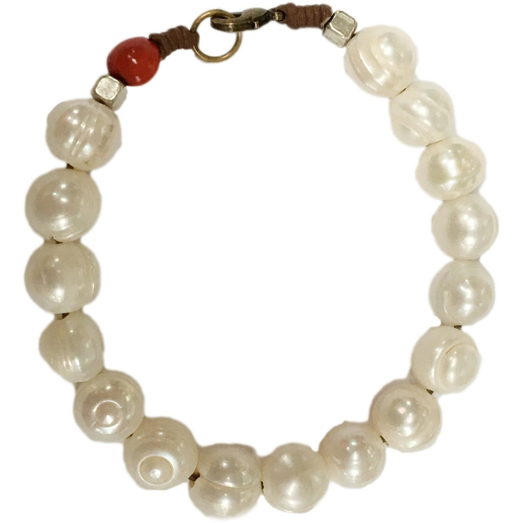 Maly - Natural Pearl Beads Bracelet - Global Empowerment Marketplace