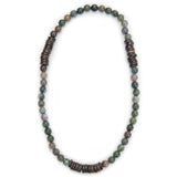 Tmaa Necklace ~ Natural Stone & Coconut Shell Accent - Global Empowerment Marketplace