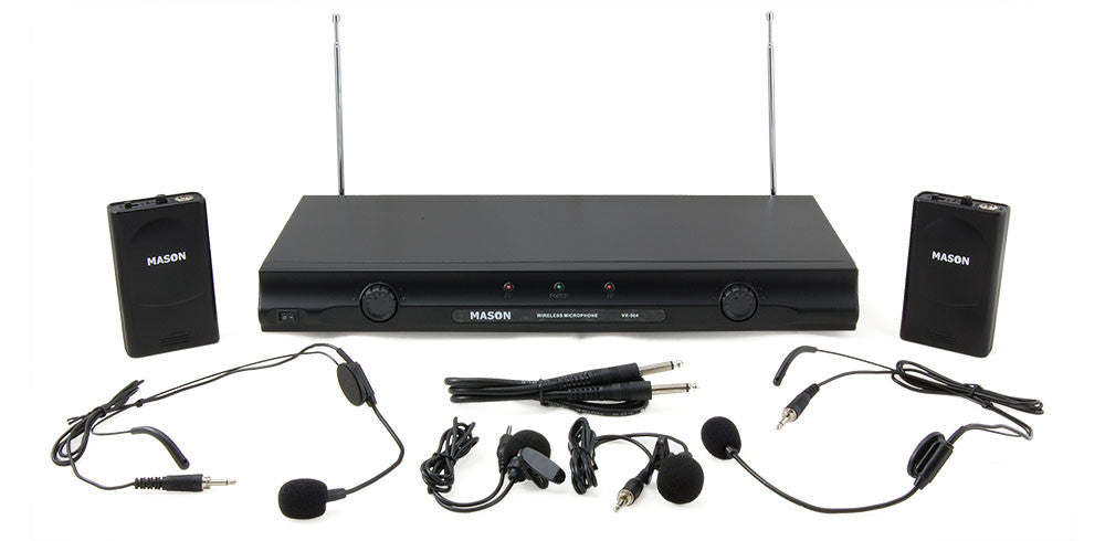 Mason VX-504 Dual Channel Wireless Headset Microphone System