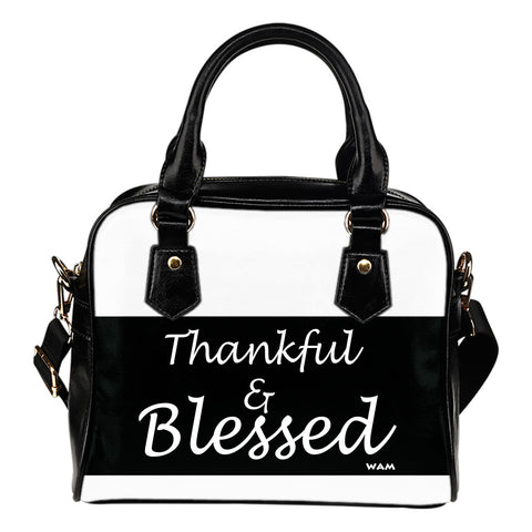 Thankful and blessed handbag