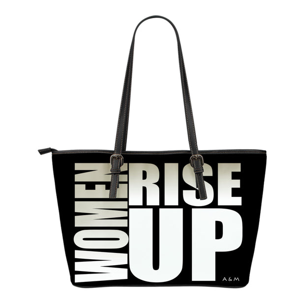 WOMEN RISE UP SMALL LEATHER TOTE