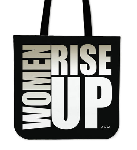 WOMEN RISE UP WHITE TOTE