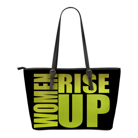 WOMEN RISE UP GOLD SMALL LEATHER TOTE