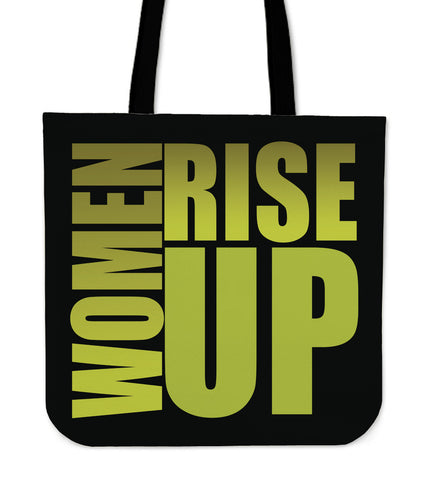 WOMEN RISE UP GOLD TOTE