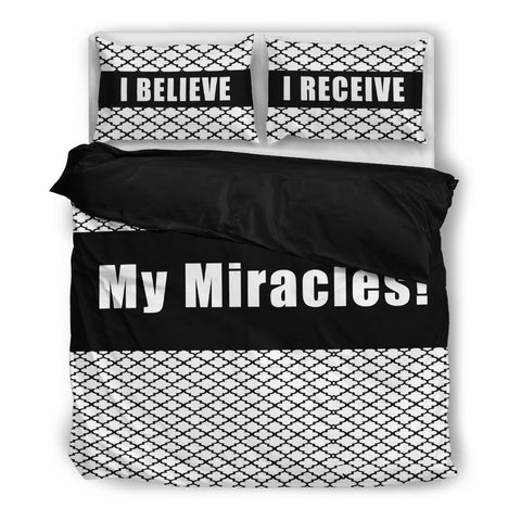 I believe, I receive my miracles bedding set! one duvet cover and two pillowcases