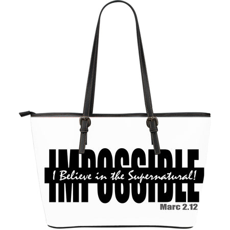 I BELIEVE SUPERNATURAL LEATHER TOTE