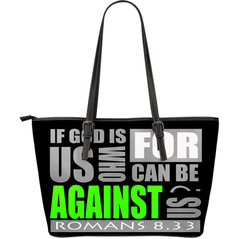 IF GOD IS WITH US! LARGE LEATHER TOTE