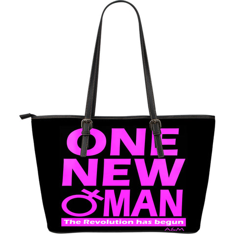 ONE NEW WOMAN large leather tote