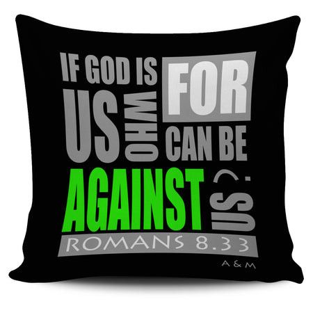 cover pillow IF GOD IS WITH US