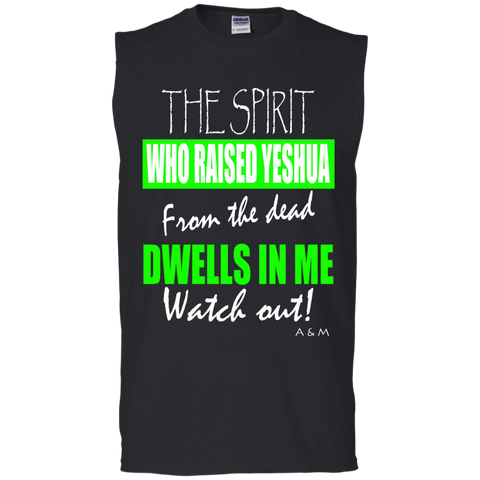 THE SPIRIT WHO RAISED YESHUAMen's Cotton Sleeveless Tee
