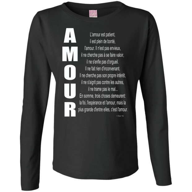 Sans l'amour je ne suis rien! Ladies Long Sleeve Cotton TShirt