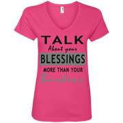 Talk about your blessing! Ladies' V-Neck Tee
