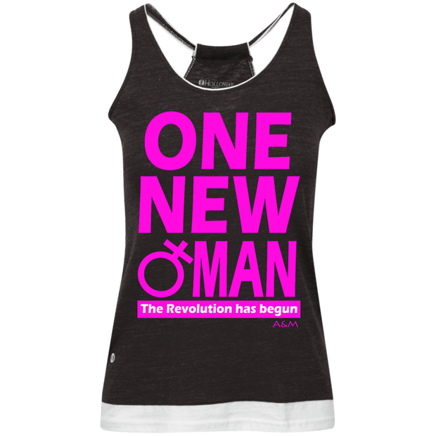 ONE NEW WOMAN! Juniors' Vintage Heathered Tank
