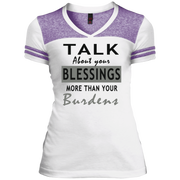 Talk about your blessing! Juniors Varsity V-Neck Tee