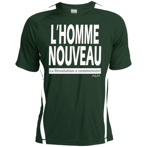 l'homme nouveau blanc! Tall Colorblock Competitor Tshirt