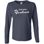 ÉQUIPE YESHUA !Ladies Long Sleeve Cotton TShirt