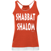 SHABBAT SHALOM! Juniors' Vintage Heathered Tank