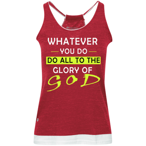 Whatever you do!  Juniors' Vintage Heathered Tank