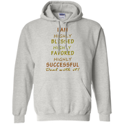 highly blessed! G185 Gildan Pullover Hoodie 8 oz.