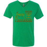 JOYEUX HANUKKAH! Men's Next Level Triblend V-Neck Tee