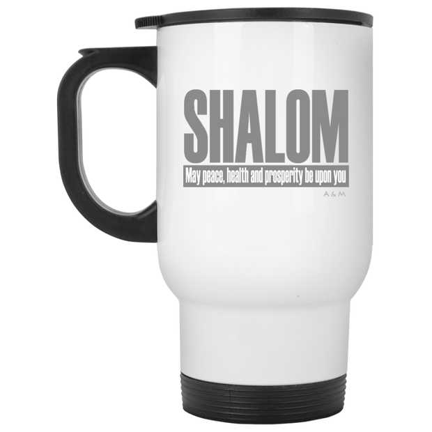 SHALOM ! XP8400W White Travel Mug
