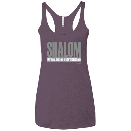 SHALOM ! NL6733 Next Level Ladies' Triblend Racerback Tank