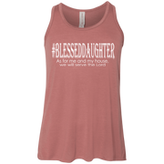 blessed daughter B8800Y Bella+Canvas Youth Flowy Racerback Tank