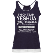 I'm on team Yeshua! Juniors' Vintage Heathered Tank