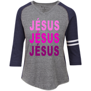 JÉSUS!Ladies' Vintage V-neck Shirt