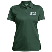 JESUS/Ladies Performance Textured Three-Button Polo