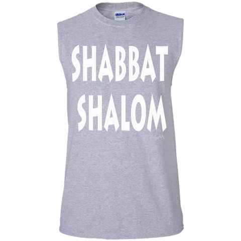 SHABBAT SHALOM! Men's Cotton Sleeveless Tee