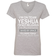 I'm on team Yeshua! Ladies' V-Neck Tee