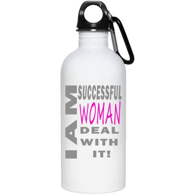I am successful woman! 20 oz Stainless Steel Water Bottle