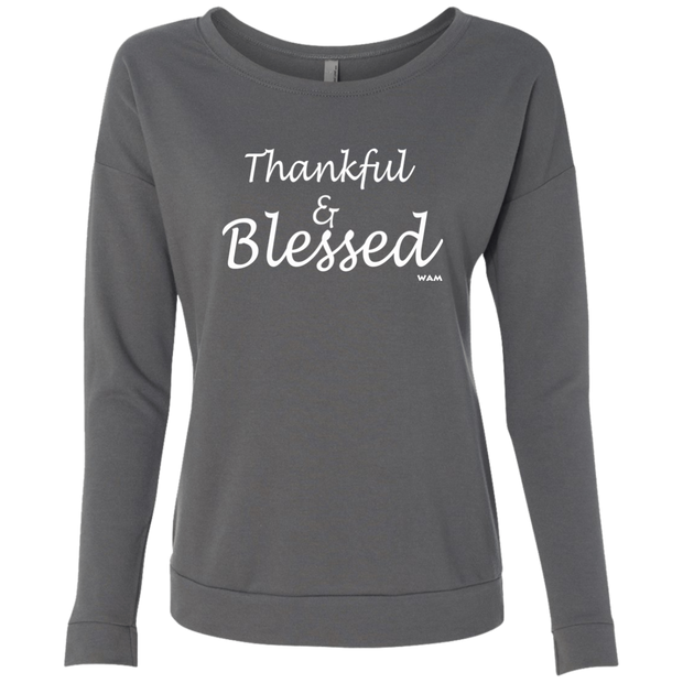 THANKFUL AND BLESSED!  NL6931 Next Level Ladies' French Terry Scoop